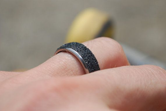 *NEW* Grip Tape Ring made from a recycled skate bearing and skateboard grip tape.  Grab it on our Etsy!  Completely unique piece of recycled skateboard jewelry.
