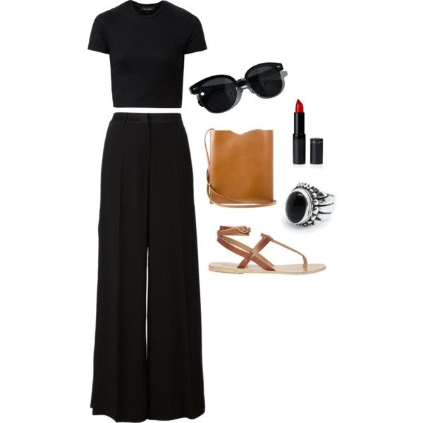 by agneslilian on polyvore featuring roberto cavalli, greek sandals, hermés and oliver peoples