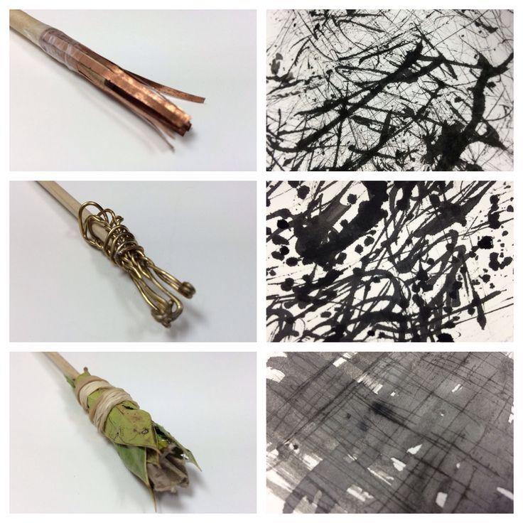 Propaedeutics. handmade brush. texture