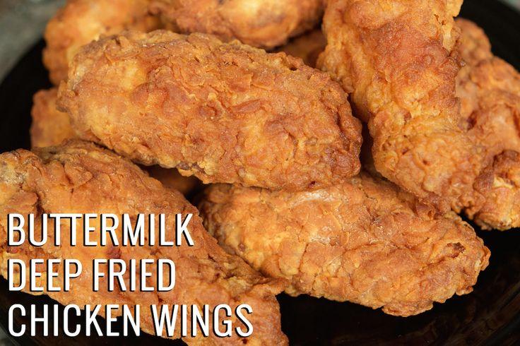 Perfectly fried Buttermilk Chicken Wings recipe. Seasoned breaded wings. Easy to follow recipe.