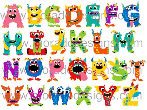 Abc Monster Alphabet Tee Alphabet Posters Pinterest