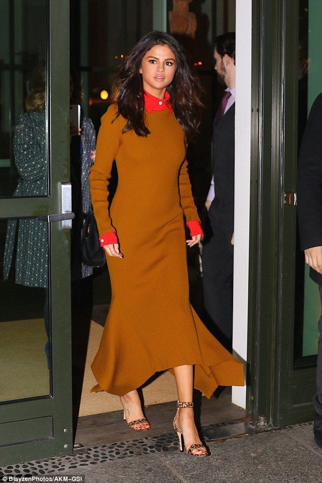 Charitably chic: Selena Gomez stunned while leaving a charity gala in New York on Wednesda...
