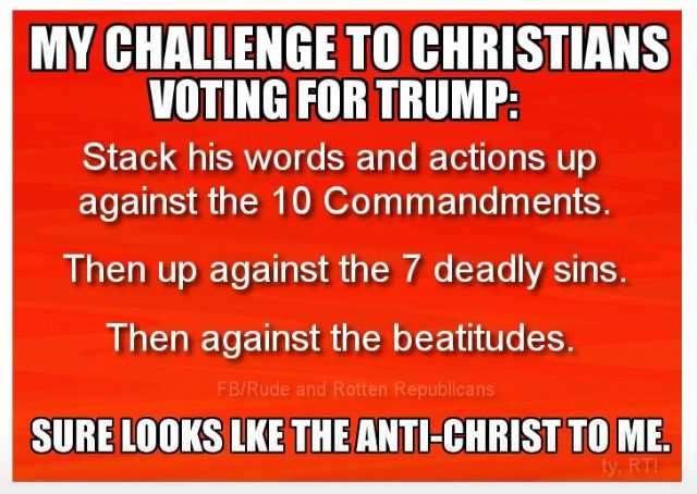 You know.....like the Anti Christ Republican Asses kept calling Barrack Obama. The same Idiots that are waiting for him to come get their guns and enact Sharia Law!! So sick of Lying, Obstructing, Hypocritical Republicans!!!