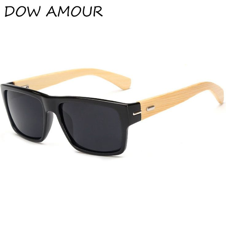DOW AMOUR Bamboo wood Sunglasses Eyewear Driver coating fashion New PE Men/Women Handmade shade lunette oculo #Affiliate