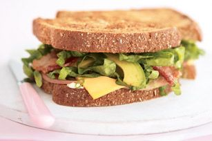 Avocado, Bacon, Ham, & Cheese Sandwich -  Use your left over ham for delicious sadwiches during the week!