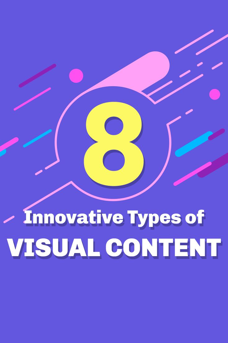 New ways to do your visual content marketing! Check out these 8 innovative types of visual content you can for your social media marketing strategy