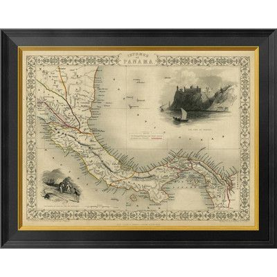 "Global Gallery Isthmus of Panama, 1851 by R.M. Martin Framed Graphic Art on Canvas Size: 21"" H x 26"" W x 1.5"" D"