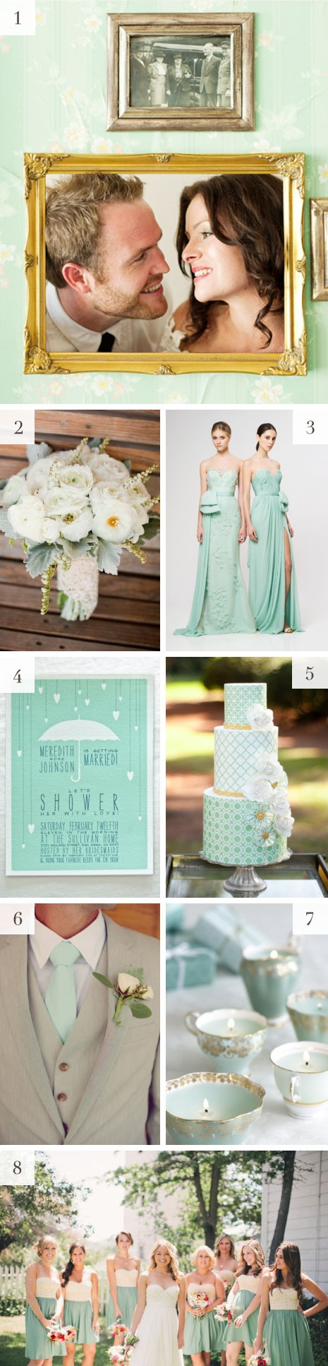 Mint wedding inspiration #color #green