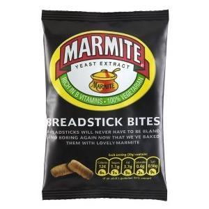 Marmite breadstick bites