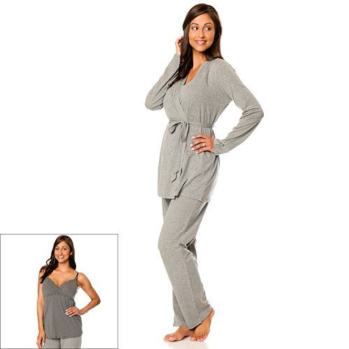 From practical nursing nightgowns with matching babywear and delivery gowns, to soft and delicate chemises and satin pajama sets, we offer a versatile selection of maternity sleepwear in designs for all different tastes and preferences.
