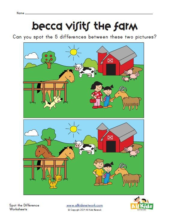 spot the difference farm worksheet worksheets pinterest worksheets farms and the o 39 jays. Black Bedroom Furniture Sets. Home Design Ideas