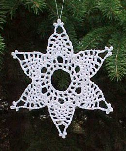 Pineapple Snowflake Ornament ~ free pattern