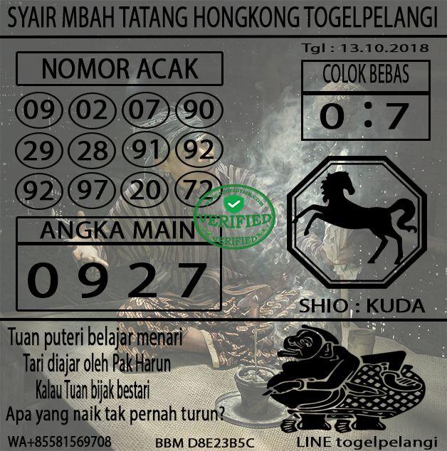 Syair Togel Mbah Tatang Hongkong Tanggal 13 10 2018 Togel Sgp Togel Sidney Togel Hongkong Togel Singapore Bandar Togel Togel Online Togel Kuda Mainan Oktober