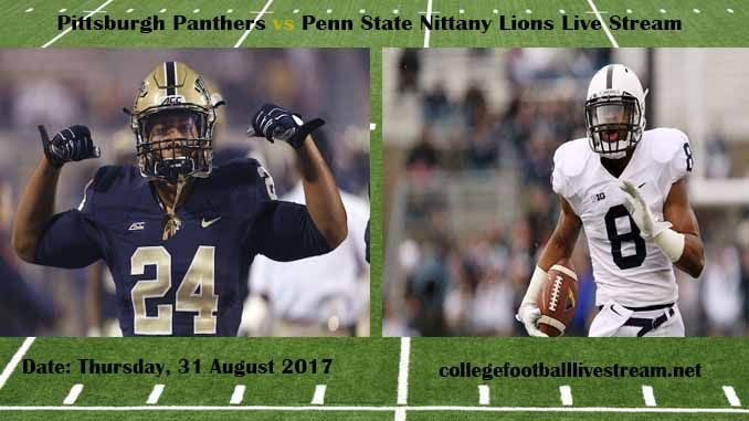 Pittsburgh Panthers vs Penn State Nittany Lions Live Stream Teams: Panthers vs Lions Time: 3:30 PM ET Week-2 Date: Saturday on 9 September 2017 Location: Beaver Stadium, University Park, PA TV: ESPN NETWORK Pittsburgh Panthers vs Penn State Nittany Lions Live Stream Watch College Football Live...