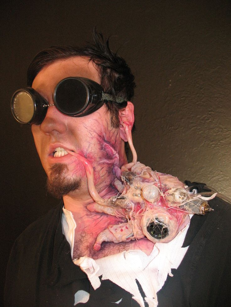 This would make a great lab costume!  Propnomicon: The Parasite    propnomicon.blogspot.com