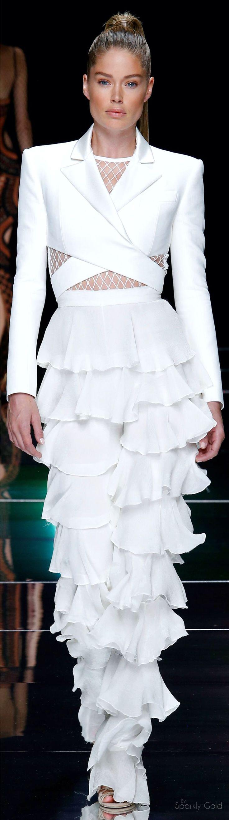 Balmain Spring 2016 RTW women fashion outfit clothing style apparel @roressclothes closet ideas