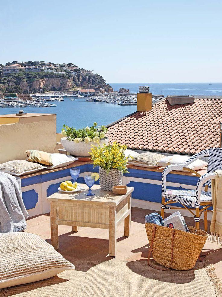 Un terraza con vistas al mar ¡Espectacular!