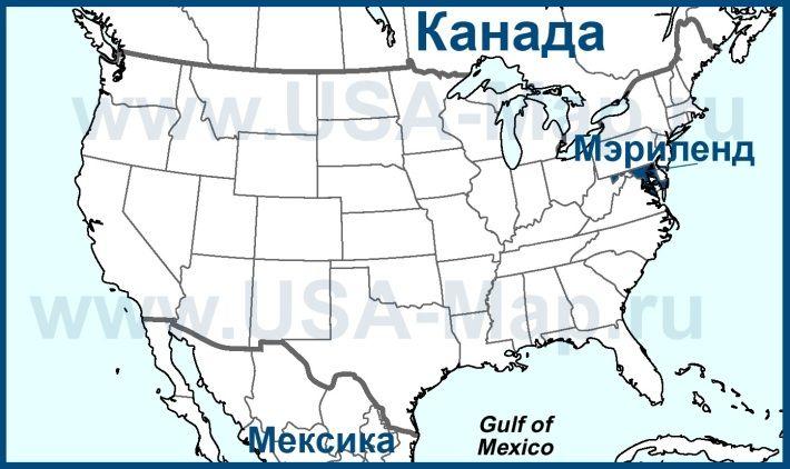 Мэриленд на карте США