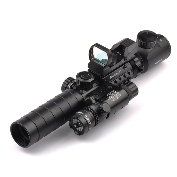 Tactical Scope Combo 3-9X32YG Riflescope with Long Range Red Dot Laser and Holographic Reflex Sight  for Rifle and Airsoft //Price: $66.99 & FREE Shipping //     #knife #army #gear #freedom #knifecommunity #airsoft