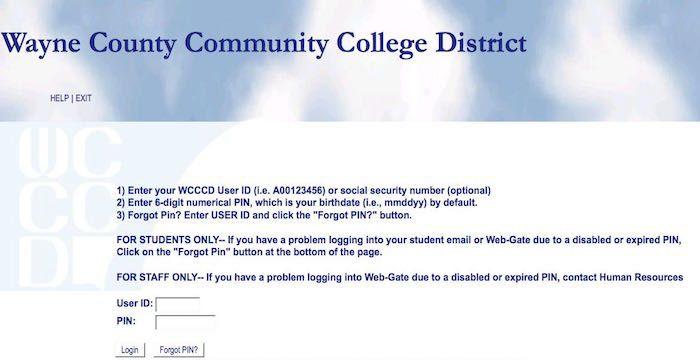 webgate www wcccd edu