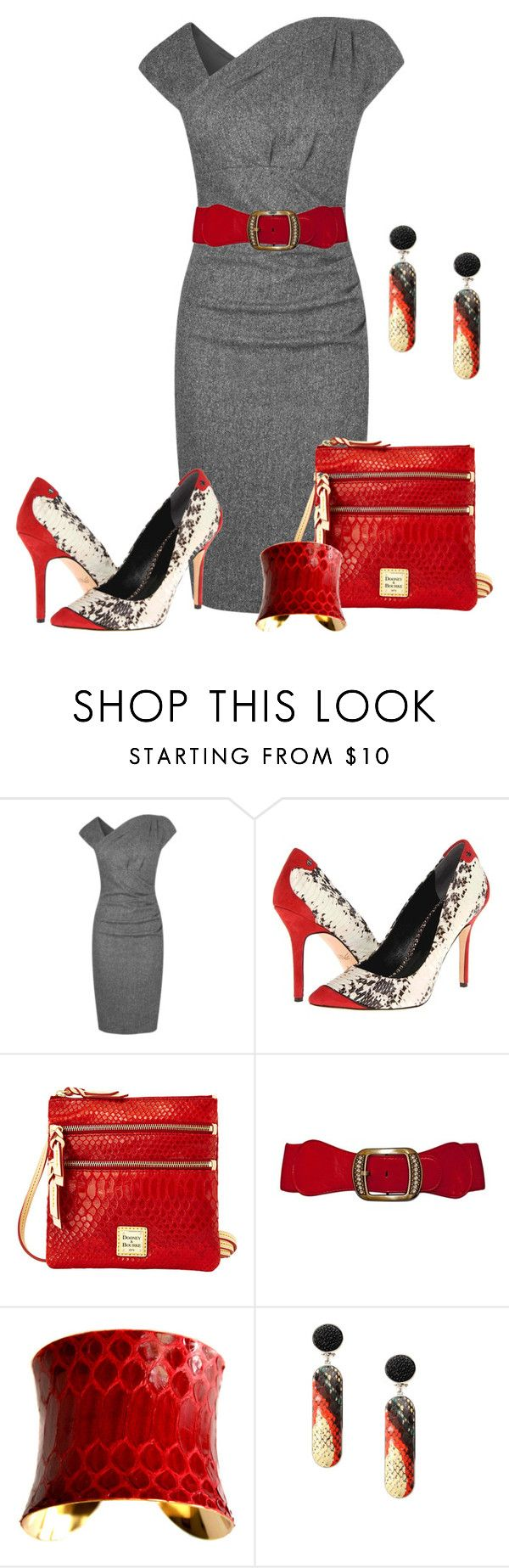 """""""Snakeskin Accessories"""" by karen-keathley ❤ liked on Polyvore featuring L.K.Bennett, Rachel Roy, Dooney & Bourke, UNEARTHED and Angelo Figus"""