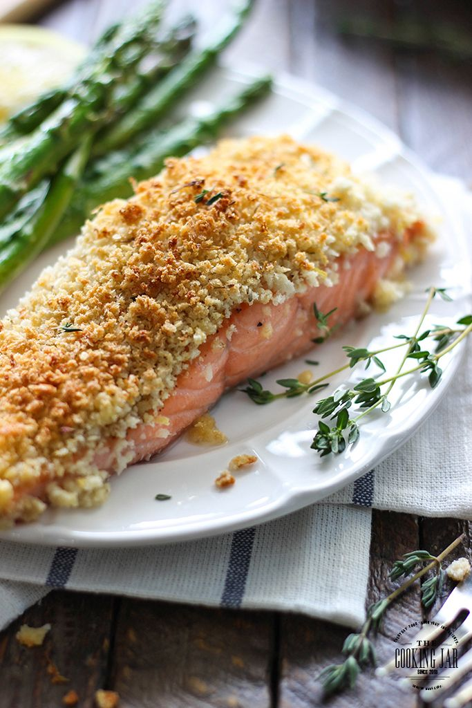 Flaky, crumbly, crunchy topped lemon and Parmesan crusted salmon. This 30 minute recipe brings out the best in salmon!