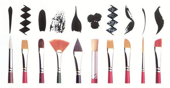 brushes and brush strokes