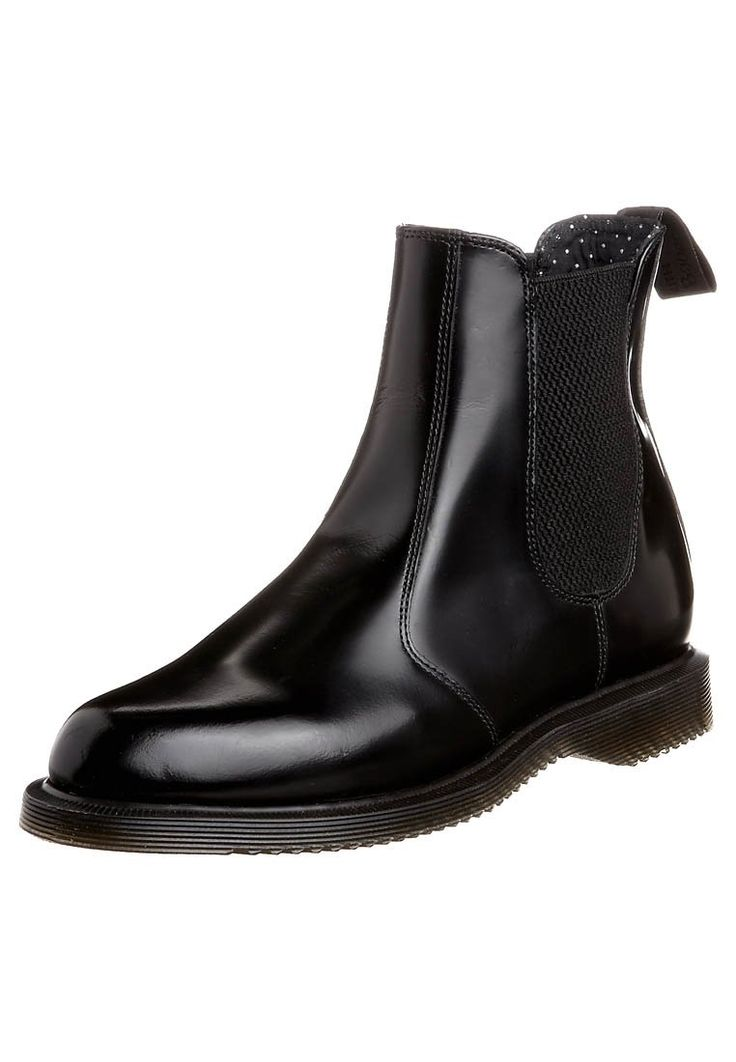 Dr. Martens - FLORA - Støvletter - black polished smooth. str.37