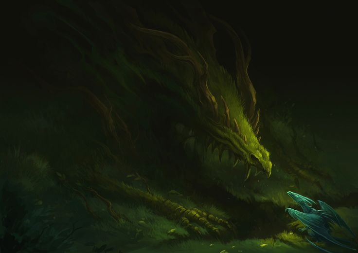 (sorry, just like dragons)    forest dragon by *sandara on deviantART