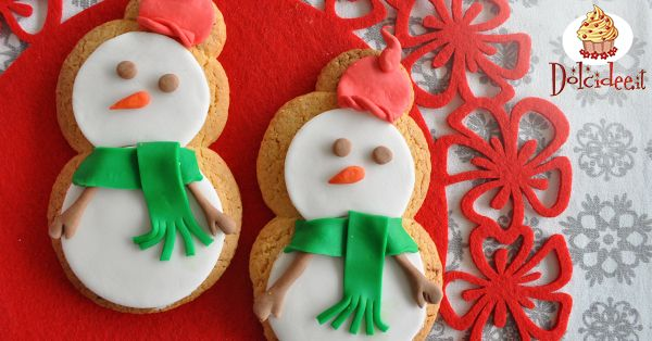 Biscotti a forma di pupazzo di neve