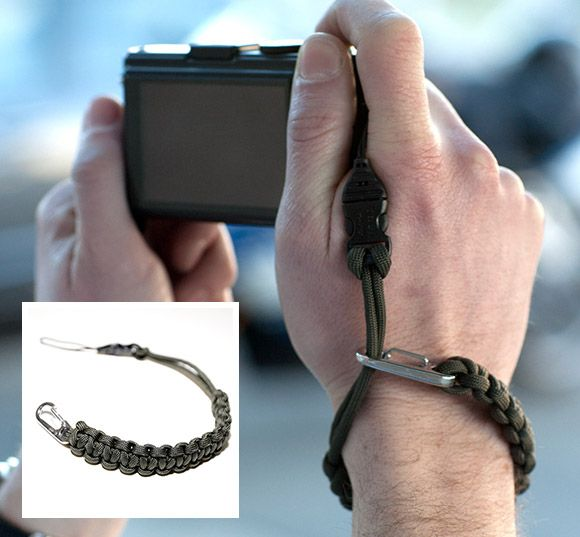 Camera Wrist Strap // Made with Commercial Type III 550 Parachute Cord.  $28