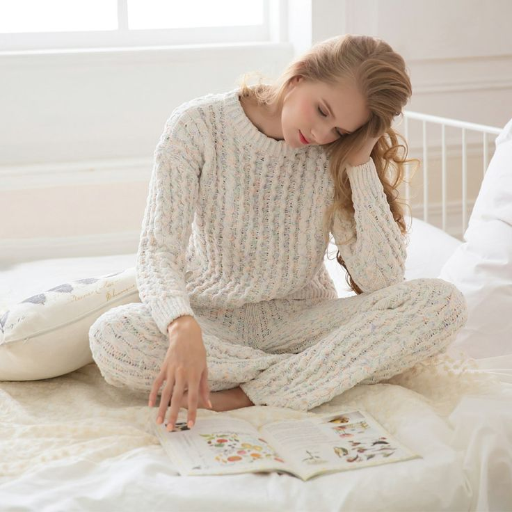 Cheap Pajama Sets on Sale at Bargain Price, Buy Quality yarn boucle, set up hidden camera, yarn mohair from China yarn boucle Suppliers at Aliexpress.com:1,pants long:trousers 2,Number:2 pieces 3,thickness:thickening 4,fabric:knitted 5,front fly:pullover