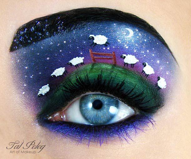 Une sélection des maquillages des yeux créatifs de Tal Peleg, aka Scarlet Moon, une artiste israélienne