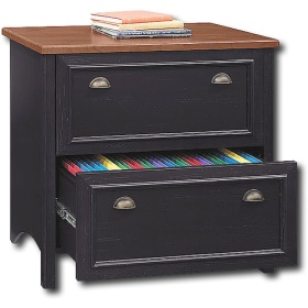 Bush - Stanford 2-Drawer Lateral File - Black $198.98
