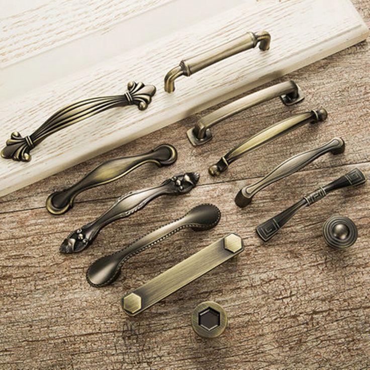 Европейский старинные бронзовые ручки мебели ручки ящика для обуви шкаф Двери шкафа Шкаф Мебельная Фурнитура