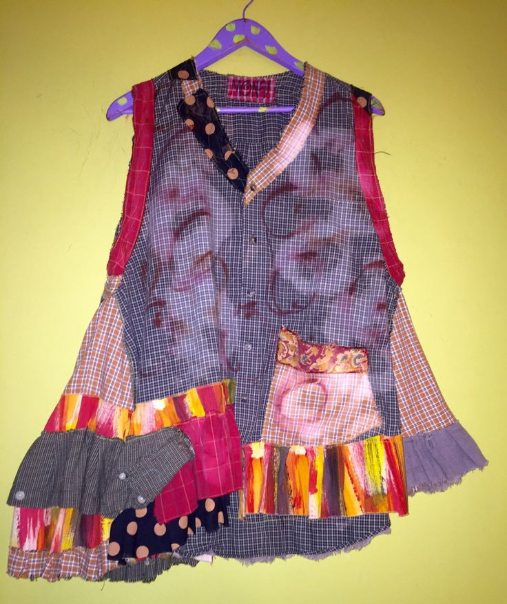 A personal favorite from my Etsy shop https://www.etsy.com/listing/470489680/cotton-upcycled-plaid-vest-with