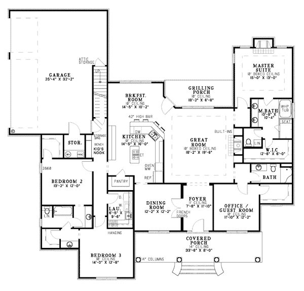 1000 ideas about southern house plans on pinterest for 2500 sq ft ranch house plans