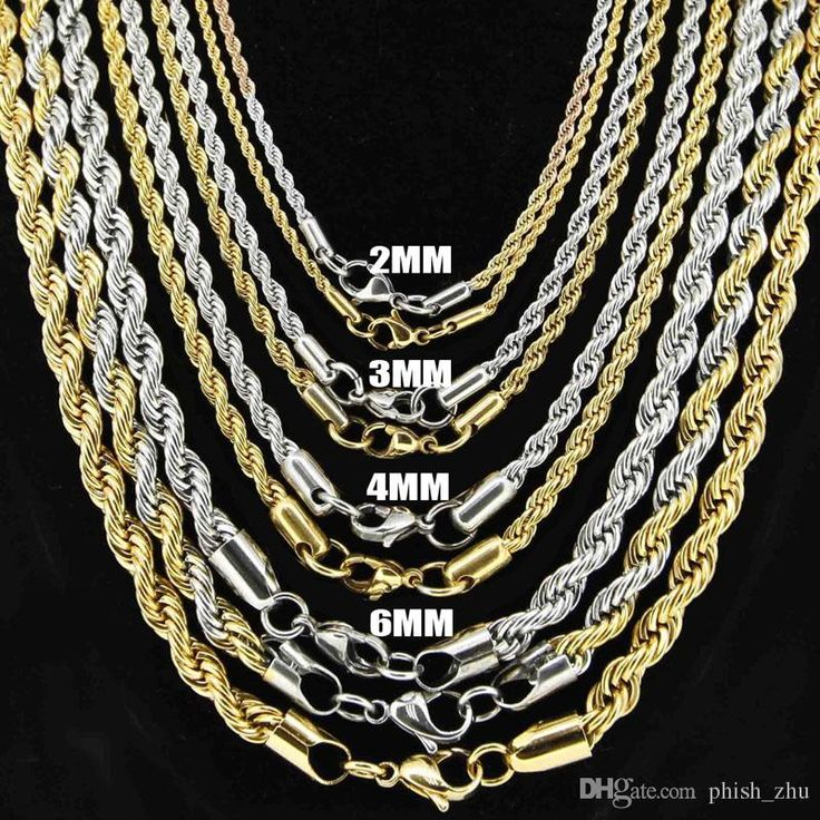 HOT Europe And America Fashion Jewelry 925 Sterling Silver Chains For Necklaces Top Quality Gold Rope Chains For Men Xmas Gift Online with $11.37/Piece on Phish_zhu's Store | DHgate.com