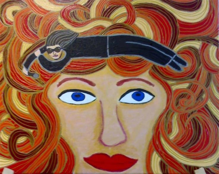 """Flying Margie - Art Work  """"Bono on my mind"""" By Margie Thomas"""