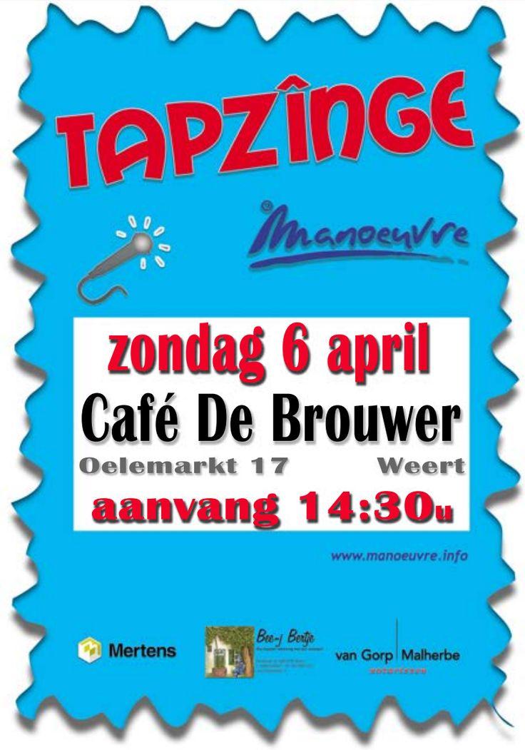 Tapzînge 2014. Manoeuvre en haar publiek maken er een leuk muzikaal feestje van in Cafe De Brouwer. #Weert #Manoeuvreweert #Metonsinweert