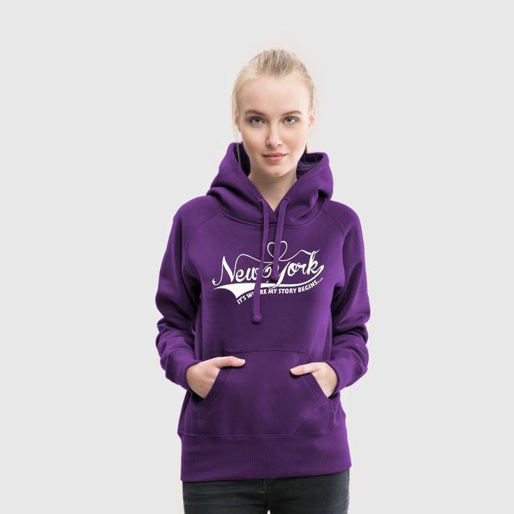 New York, It's where my story begins...Purple Women's Hoodie
