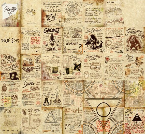 Gravity Falls Small Replica Journal Pages by TheMysteryShack