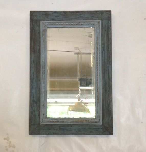 40 best sweetly salvaged images on pinterest etsy shop for Teal framed mirror