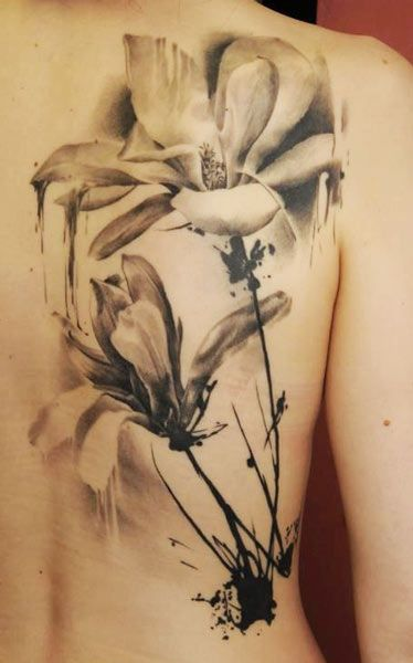 I'm in love with the idea of water-color tattoos right now