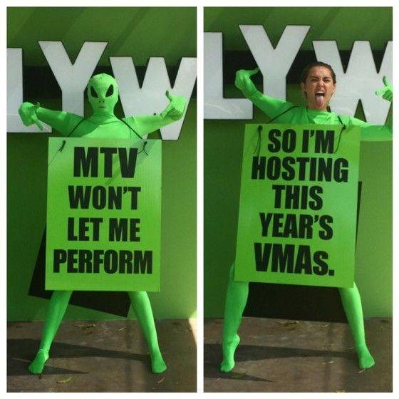 Miley Cyrus y los MTV VMAs.
