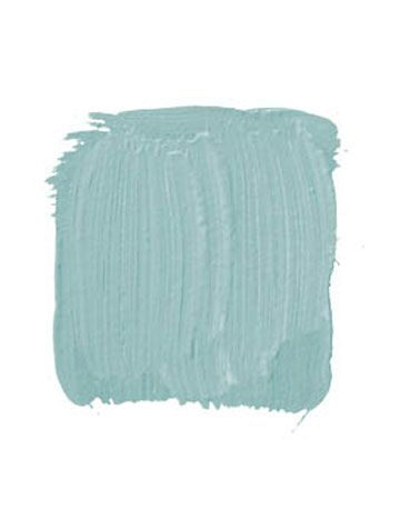 "SHERWIN-WILLIAMS/DURON, COLORS OF HISTORIC CHARLESTON VERDITER BLUE DCR078 NRH: ""This is an intense 18th-century blue-green with a great history. They used to make it by pouring acids on copper and using the verdigris as the pigment for the paint. A living room would be killer with this on the walls, dead-white trim, and mahogany or black-painted furniture."" -Ralph Harvard"