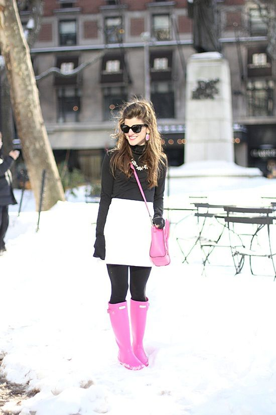 Hot Pink Hunter Boots - BrightonTheDay