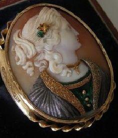 antique cameo brooch