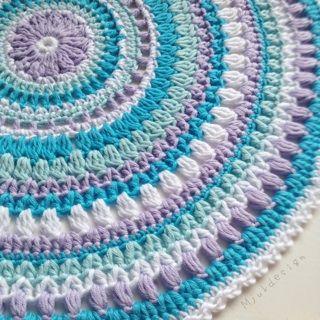 Crochet Mandala Alfombra gratuito Patrón