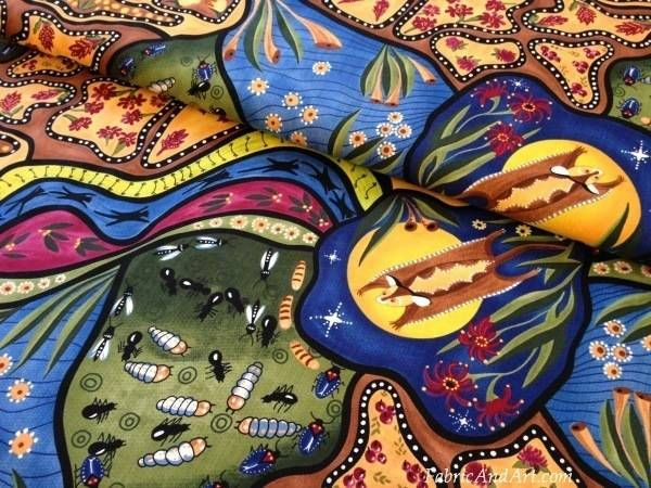 Native Australian design fabric